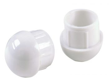 Round Internal Patio Furniture Dome Insert Tips, 1-Inch, 4-Pack, White
