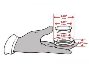 Standard Size Umbrella Hole Ring and Cap Set