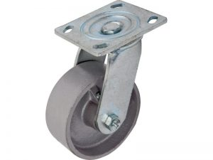 5-Inch Cast Iron Swivel Caster, 800-lb Load Capacity