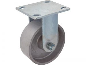5-Inch Cast Iron Rigid Caster, 800-lb Load Capacity