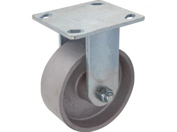 5-Inch Cast Iron Rigid Caster, 800-lb Load Capacity