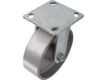 6-Inch Cast Iron Rigid Caster, 900-lb Load Capacity