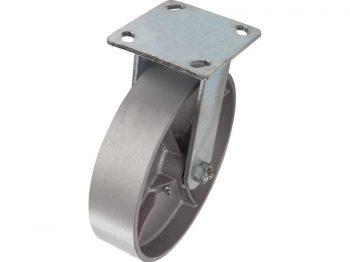 8-Inch Cast Iron Rigid Caster, 1050-lb Load Capacity