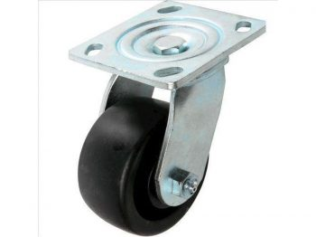 4-Inch Polypropylene Swivel Caster, 400-lb Load Capacity
