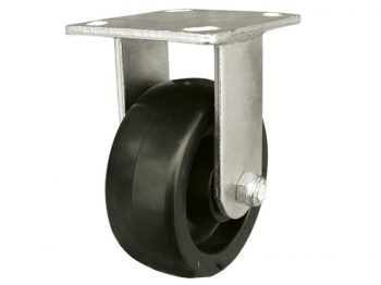 6-Inch Polypropylene Wheel Rigid Plate Caster, 500-lb Load Capacity