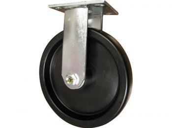 8-Inch Polypropylene Rigid Caster, 600-lb Load Capacity