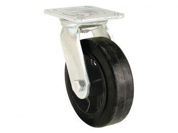 5-Inch Soft Rubber Rigid Caster, 330-lb Load Capacity