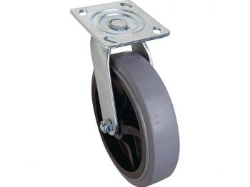 8-Inch Thermoplastic Swivel Caster, 700-lb Load Capacity