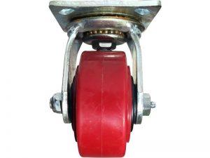 4-Inch Polyurethane Swivel Caster, 600-lb Load Capacity