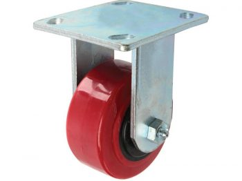 4-Inch Polyurethane Rigid Caster, 600-lb Load Capacity