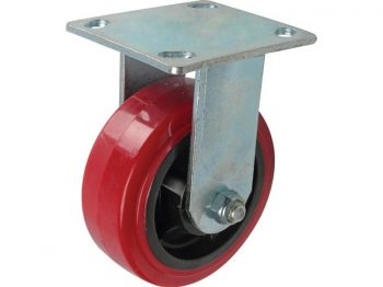 5-Inch Polyurethane Rigid Caster, 750-lb Load Capacity
