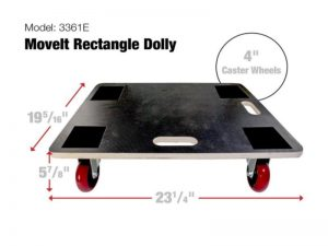 Move-It Premier 23-Inch x 19-Inch Rectangle Wood Platform Dolly