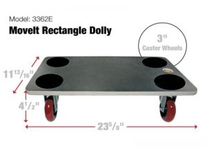 Move-It Premier 23-Inch x 12-Inch Rectangle Wood Platform Dolly