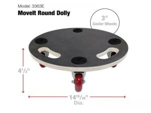 Move-It Premier 15-Inch Round Wood Platform Dolly