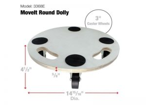 Move-It 15-Inch Round Wood Platform Dolly