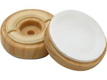 2-Inch Slider-N-Gripper Dual Function Furniture Cup, 4-Pack