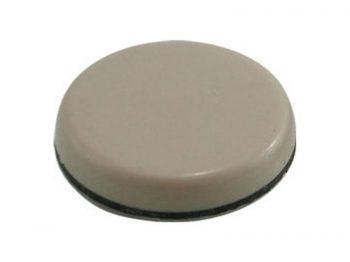 2-1/2-Inch Adhesive, Round, Slide Glide Furniture Sliders, Beige, 4-Pack