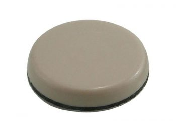 1-Inch and 1-3/4-Inch Adhesive, Round, Slide Glide Furniture Sliders, Beige, 20-Pack