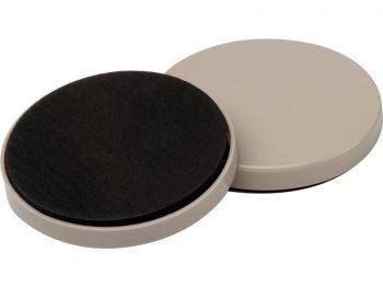 3-1/2-Inch Reusable, Round, Slide Glide Furniture Sliders, Beige, 4-Pack