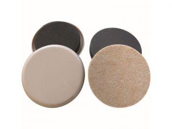 3-1/2-Inch Reusable, Round, Felt Gard/Slide Glide Furniture Slider Comb, Beige, 8-Pack