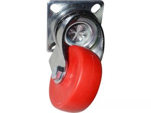 2-Inch Color Designer Casters, Cherry 2-Pack