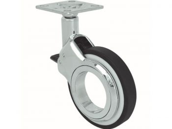 2.4-Inch Hub-Free Desginer Casters, Vacant w/Brake