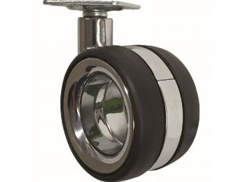 3-Inch Hub-Free Designer Casters, Twin Wheel Vacant