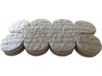 1-Inch Self-Adhesive Felt Commercial Grade, 16-Count, Beige