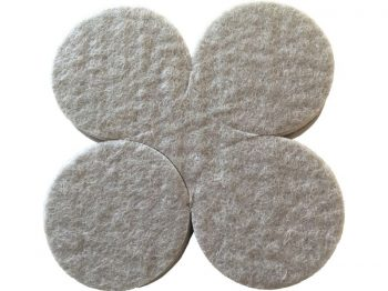 1-1/2-Inch Self-Adhesive Felt Commerical Grade, 8-Count, Beige