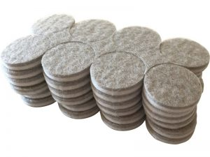 1-Inch Self-Adhesive Felt Commercial Grade, 48-Count, Beige