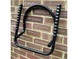 Fold-Away Wall Mounted Dual Bike Rack, Black