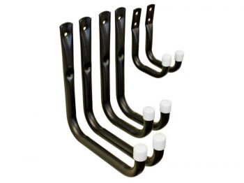 Heavy Duty Steel Garage Storage / Utility Hooks, 6 Pack