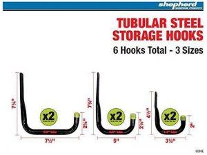 Heavy Duty Steel Garage Storage / Utility Hooks, 6 Pack