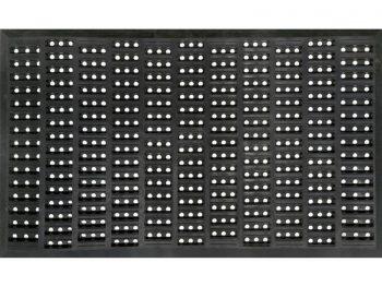 Indoor/Outdoor Recycled Rubber Floor Mat - 18 x 30-Inches, Black