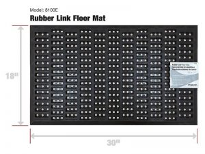 Indoor/Outdoor Recycled Rubber Floor Mat - 18 x 30-Inches, Black