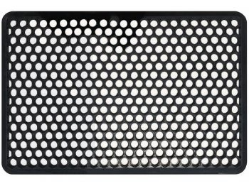 Indoor/Outdoor Recycled Rubber Floor Mat - 22 x 34-Inches, Black