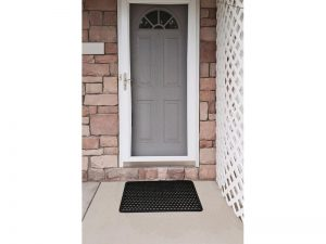 Indoor/Outdoor Recycled Rubber Floor Mat - 22 x 34-Inches, Black