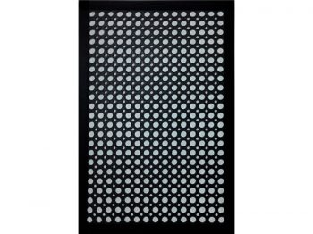 Indoor/Outdoor Recycled Rubber Floor Mat - 24 x 36-Inches, Black