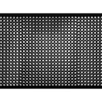 Indoor/Outdoor Recycled Rubber Floor Mat - 36 x 60-Inches, Black
