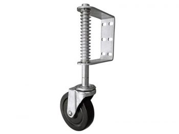 5-Inch Spring Loaded Gate Caster, 220-lb Load Capacity