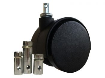2-Inch Nylon Twin Wheel Caster, 175-lb Load Capacity, 5-Pack