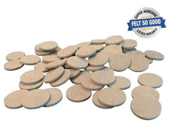 "Felt So Good Self Adhesive Felt Furniture Pads, 1-1/2"", Beige, 60-Count"