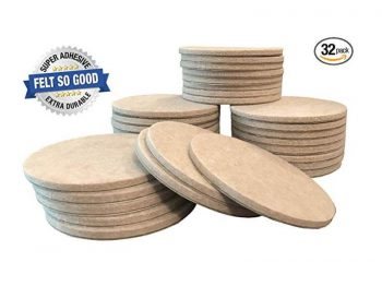 "Felt So Good Self Adhesive Felt Furniture Pads, 3"", Beige, 32-Count"