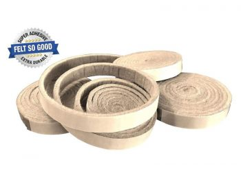"Felt So Good Self Adhesive Felt Furniture Pads, 1/2"" x 58"", Beige, 4-Count"