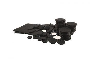Felt So Good Self Adhesive Felt Furniture Pads Multi-pack, Black, 98-Count