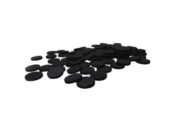 "Felt So Good Self Adhesive Felt Furniture Pads, 1"", Black, 100-Count"