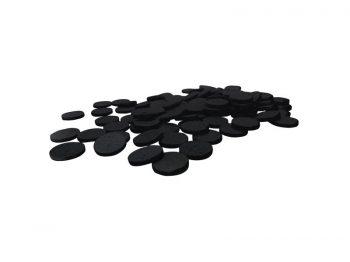 "Felt So Good Self Adhesive Felt Furniture Pads, 1"", Black, 100-Count"