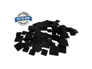 "Felt So Good Self Adhesive Felt Furniture Pads, 1"" and 1-1/2"", Black, 76-Count"