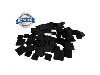 "Felt So Good Self Adhesive Felt Furniture Pads, 1"" and 1-1/2"", Black, 76-Count"