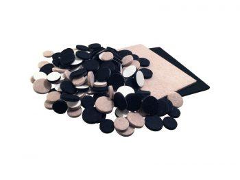Felt So Good Self Adhesive Felt Furniture Pads, Multi-pack, Black & Beige, 130-Count